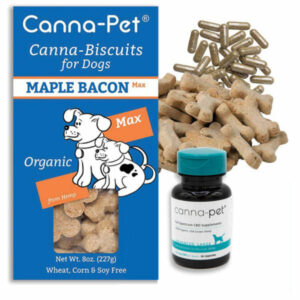 Package: Canna-Pet® Advanced Large- 60 count capsules & MaxCBD Biscuits